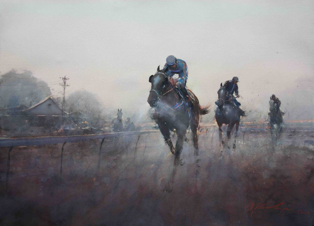 Early Trackwork at Kyneton - by Joseph Zbukvic