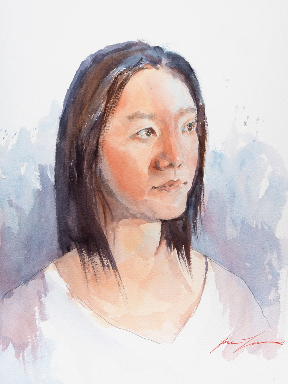 Portrait of my wife, Betty 12x16