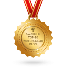 Awarded as one of the top 60 Watercolor Blog by Feedspot.com