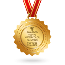 Awarded as one of the top 75 Watercolor YouTube Channel by Feedspot.com