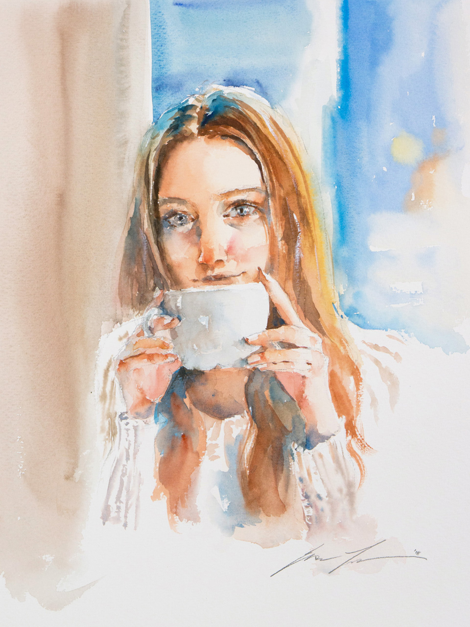 "Coffee time 12""x16"""