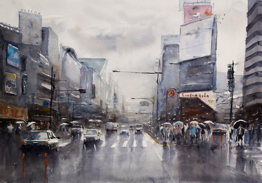 Shibuya, Tokyo - finished painting