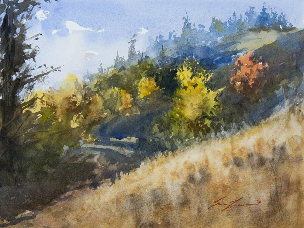 Cle Elum Hillside - 12x8, original available   here