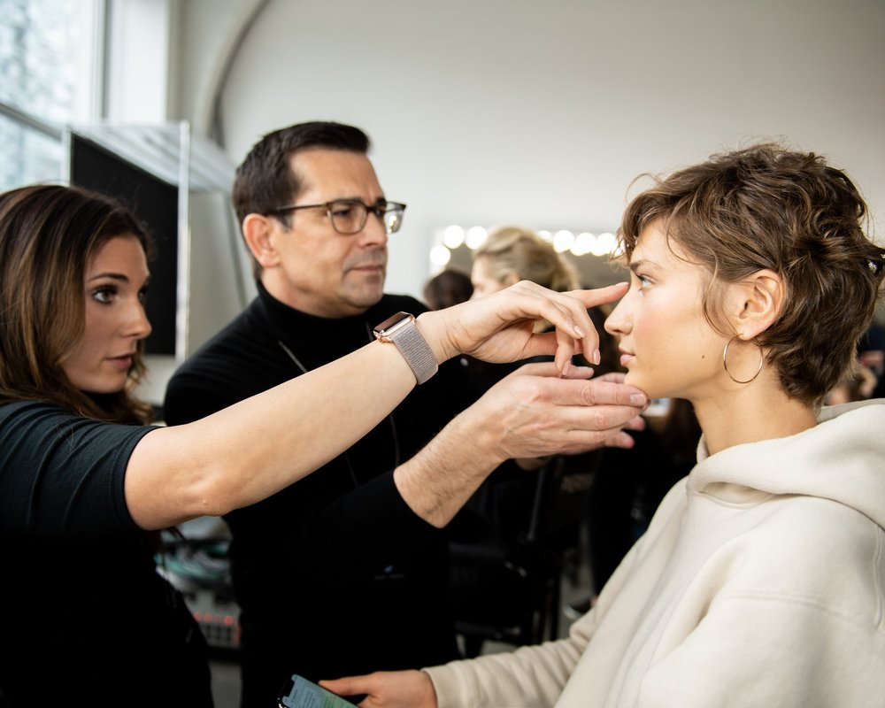 Global artist Rick DiCecca used Artistry Studio products for Pamela Rolland 2019 FALL/WINTER Collection