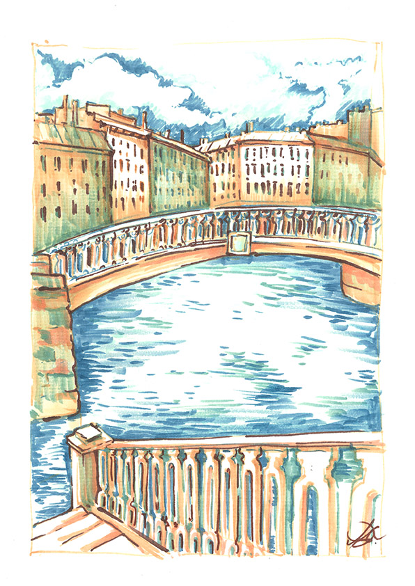 Canals of St. Petersburg Paper, ink, markers, 30 x 21 cm, 2016 Price: USD 86