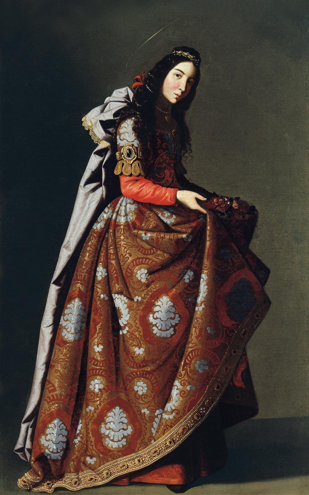 Francisco de Zurbarán · Santa Casilda, c. 1630-16353 (Saint Casilda) · Óleo sobre lienzo, 171 x 107 cm · Museo Thyssen-Bornemisza, Madrid.