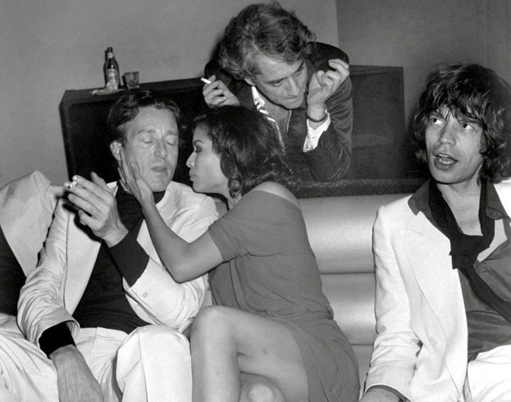 Halston, Bianca Jagger And Mick Jagger, 1977. © Richard Corkery /NewYork Daily News.
