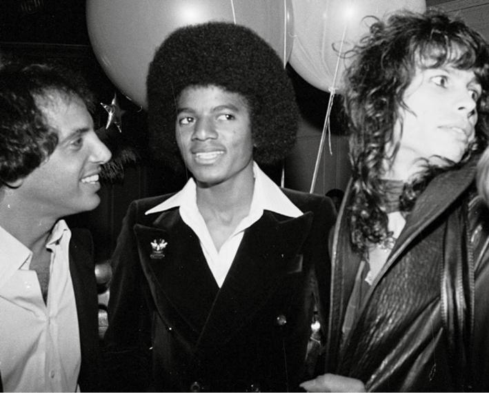 Steve Rubell, Michael Jackson And Steven Tyler, 1977. © Bobby Bank/ Wirelmage.