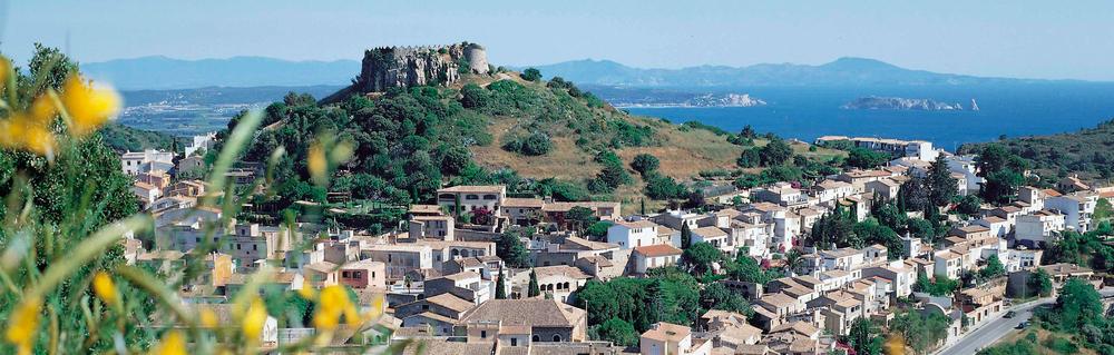 Vista del Centro histórico de Begur