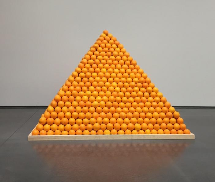 Installation view: Roelof Louw, Soul City (Pyramid of Oranges)  1967  Aspen Art Museum, 2015