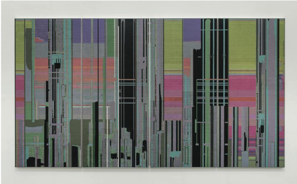 Liu Wei,   Liberation n°  16  ,   2014   Oil on canvas   400   ×   720   cm