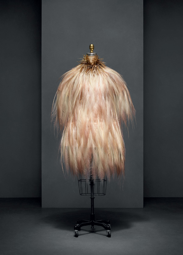 Yves Saint Laurent (French, 1936–2008)   Evening dress,autumn/winter 1969–70 haute couture French Silk, bird-of-paradise feathers The Metropolitan Museum of Art, New York, Gift of Baron Philippe de Rothschild, 1983 (1983.619.1a, b) Photo © Nicholas Alan Cope