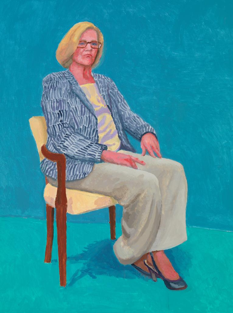 David Hockney RA,Dagny Corcoran, 15th, 16th, 17th January, 2014.Acrylic on canvas. 121.92 x 91.44 cm. © David Hockney Photo credit: Richard Schmidt.