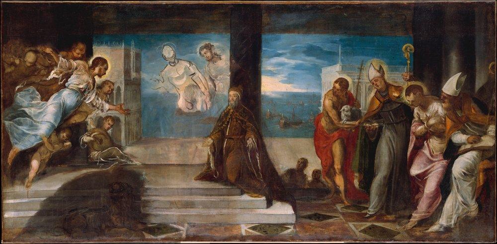 Jacopo Tintoretto (Jacopo Robusti) (Italian, Venice 1519–1594 Venice.  1577.  Oil on canvas.  38 1/4 x 78 in. (97.2 x 198.1 cm).  John Stewart Kennedy Fund, 1910.  10.206