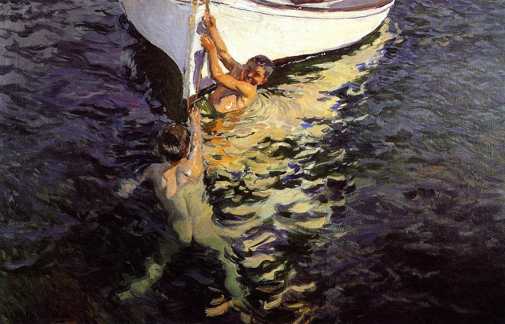 El bote blanco, Jávea 1905 Colecc. particular