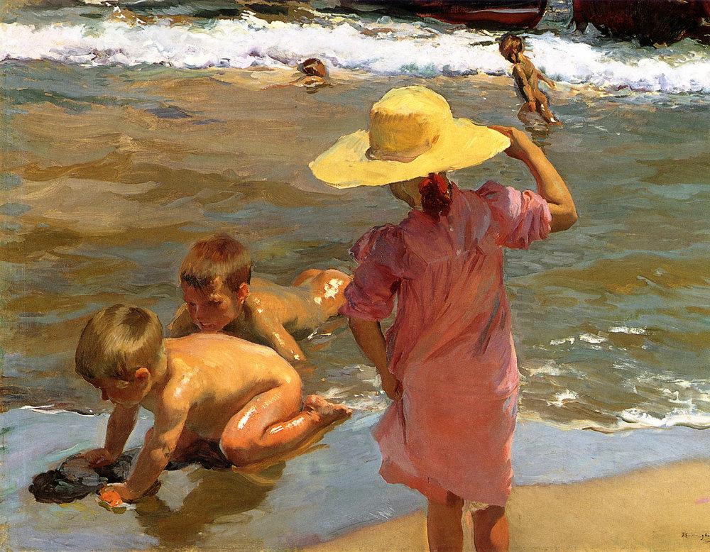 Niños a la orilla del mar,1903.