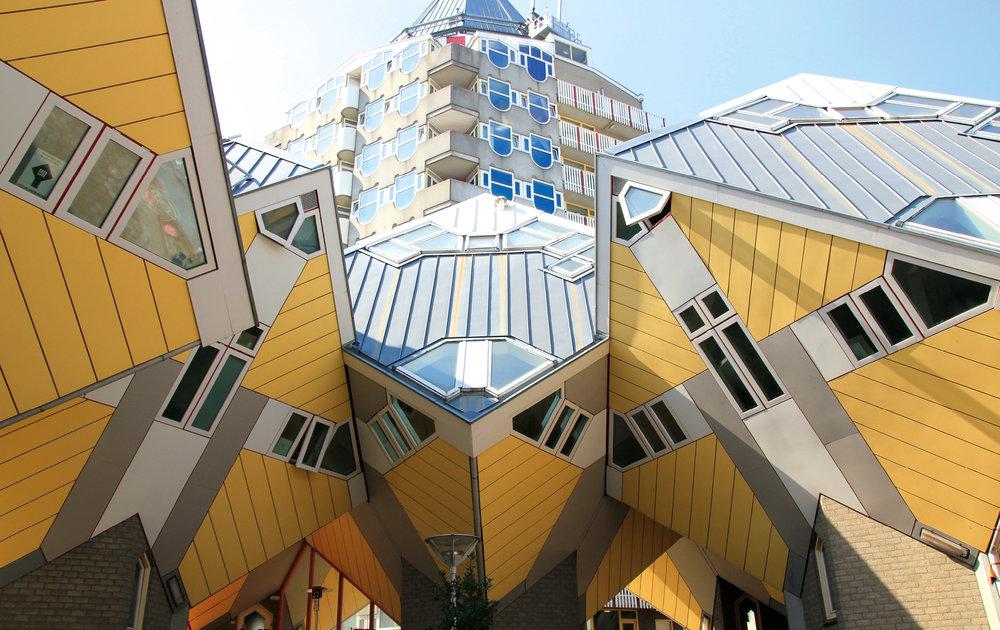 Casas Cúbicas en Rotterdam.