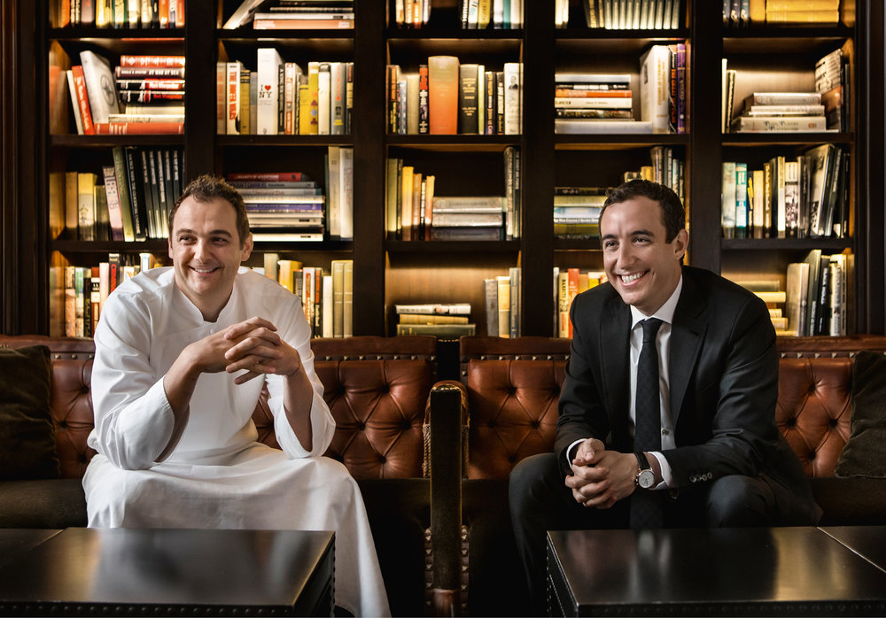 Chef Daniel Humm and Will Guidara in the Library at The NoMad © Francesco Tonelli.