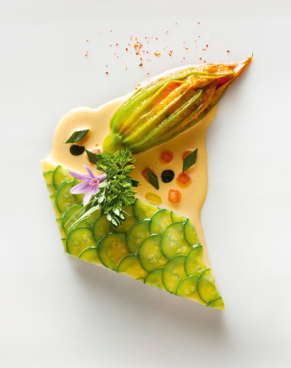 Turbot Poached with Zucchini © Francesco Tonelli.