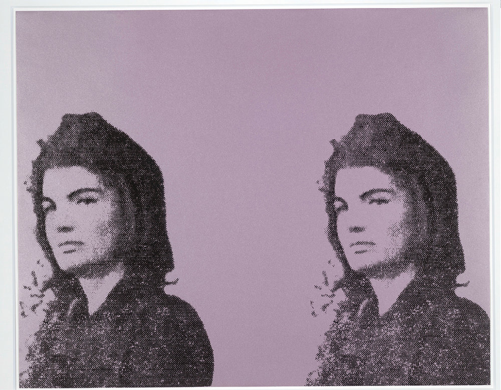 Andy Warhol, Jackie II (Jacqueline Kennedy II), from 11 Pop Artists, vol. II, 1965, published 1966, colour screenprint   © 2016 The Andy Warhol Foundation for the Visual Arts, Inc. / Artists Rights Society (ARS), New York and DACS, London.