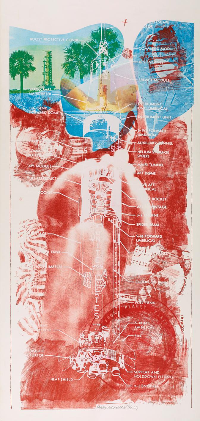 Robert Rauschenberg (1925–2008), Sky Garden from Stoned Moon. Colour lithograph and screenprint, 1969. © Robert Rauschenberg Foundation/DACS, London/VAGA, New York