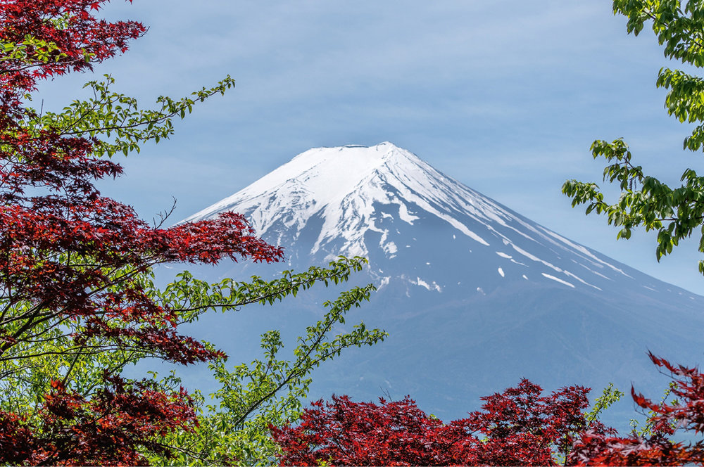 Hakone . VISTAS AL MONTE Fuji.