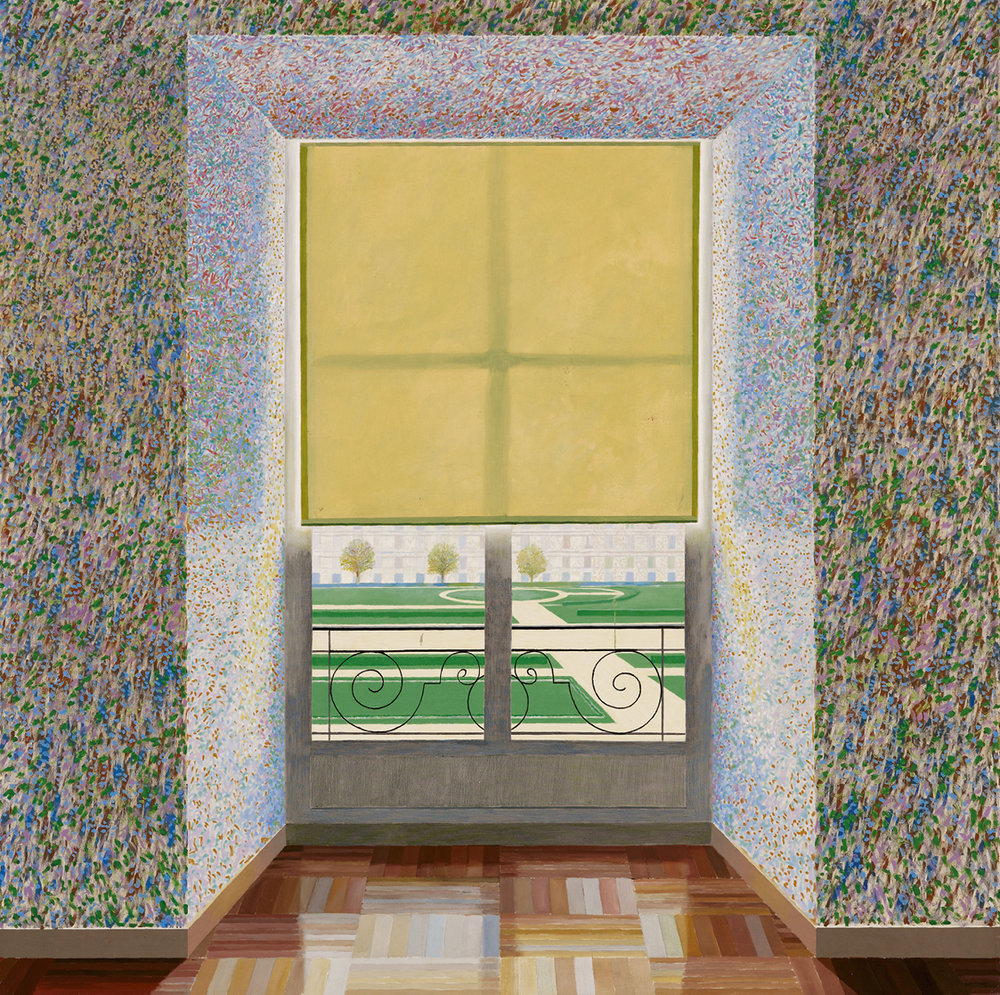 Contre-jour in the French Style (Against the Day dans le Style Français), 1974 · Huile sur toile · 183 x 183 cm · © David Hockney · Collection Ludwig Museum, Budapest.