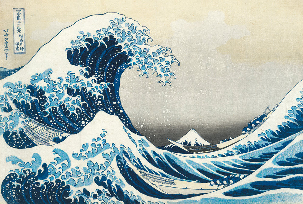 Under the wave off Kanagawa (The Great Wave) from Thirty-six views of Mt Fuji. Colour woodblock, 1831. Acquisition supported by the Art Fund. © The Trustees of the British Museum