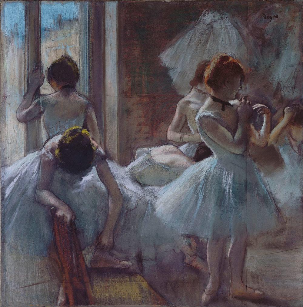 Edgar Degas (1834-1917) · Danseuses dit aussi Groupe de danseuses. Vers 1884-1885. Paris, musée d'Orsay. © Musée d'Orsay, Dist. RMN-Grand Palais / Patrice Schmidt.