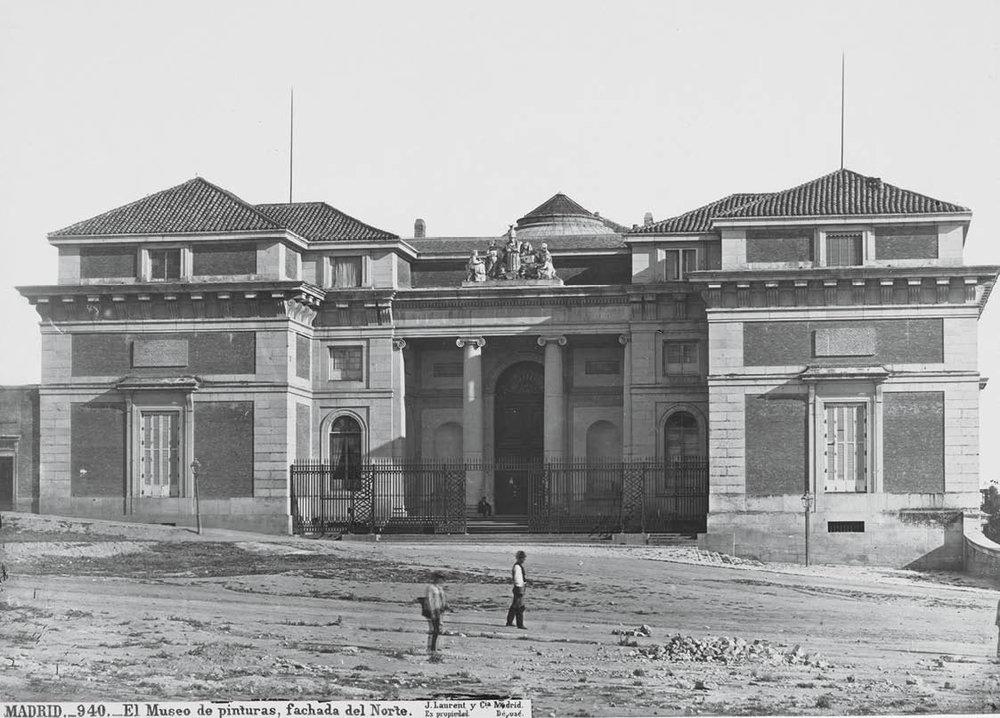 Vista de la fachada Norte o de Goya.