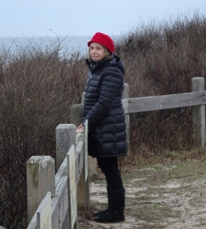 Carol Nye at the Seal Haul-out site.