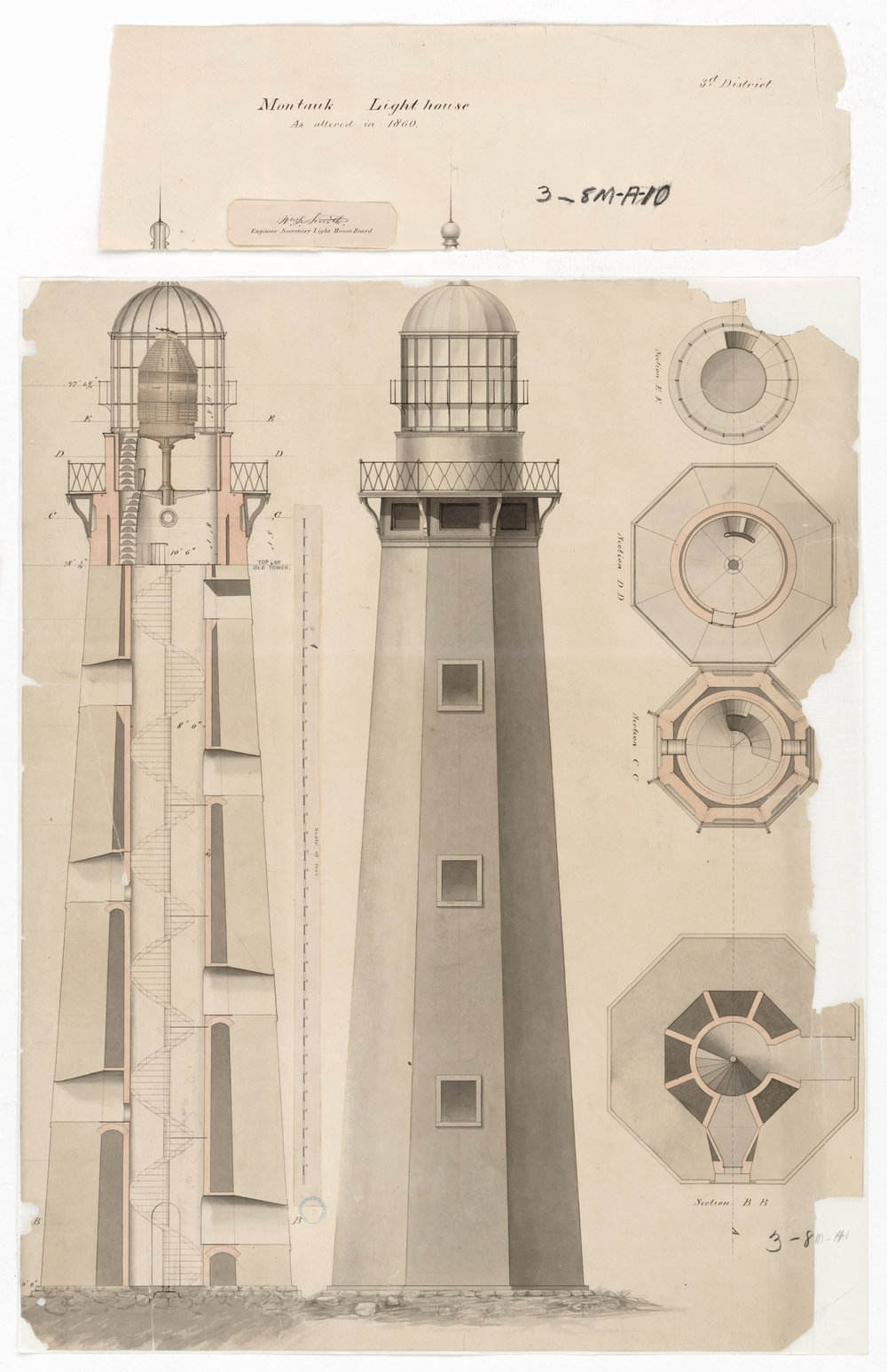 Original Site Plans for the Montauk Lighthouse