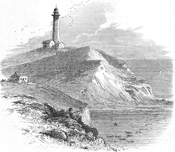 The Montauk Point Lighthouse in the mid 1800's.