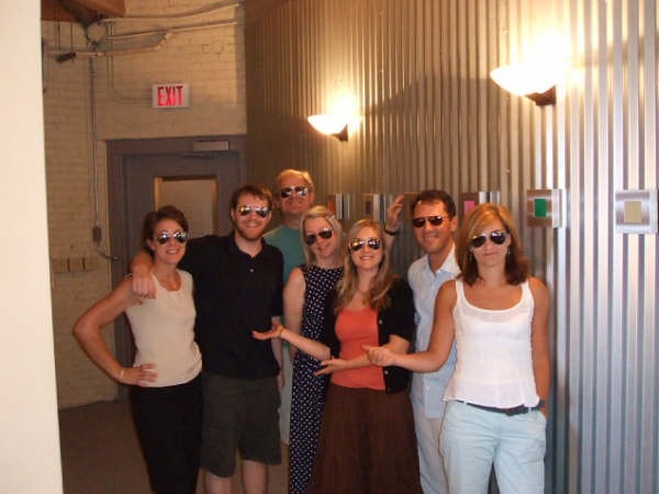 At Libretto's old offices, September 2008 (left to right): Andrea Still Gray, Charlie O'Keefe, Jason Rubin, Sarah Jensen, Alison Case, Neal Kane, Nancy Faris.