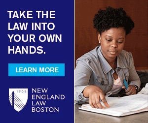 This intriguing headline is an expression of New England Law | Boston's key message related to practical, hands-on experience.