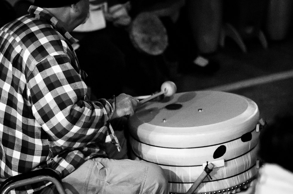 The rhythm and beats of the drumming are mesmerizing reaching down into the core of us as humans.