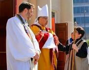 Rabbi Berg, Bishop Wight & Verger Tola