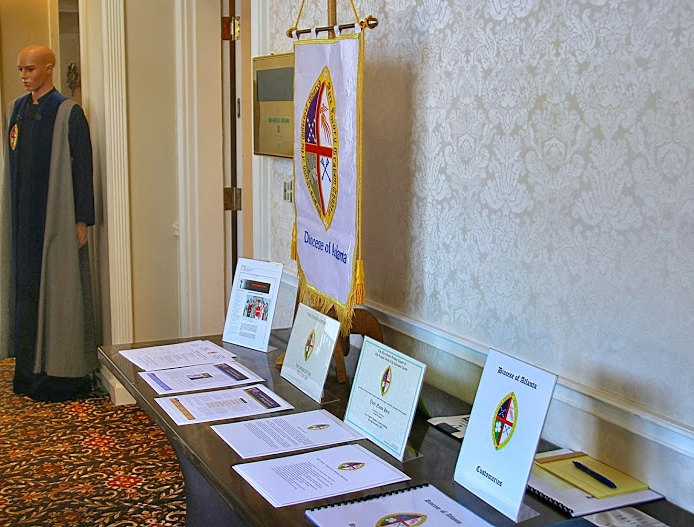 The Verger Display Table staffed by Virgil Verger