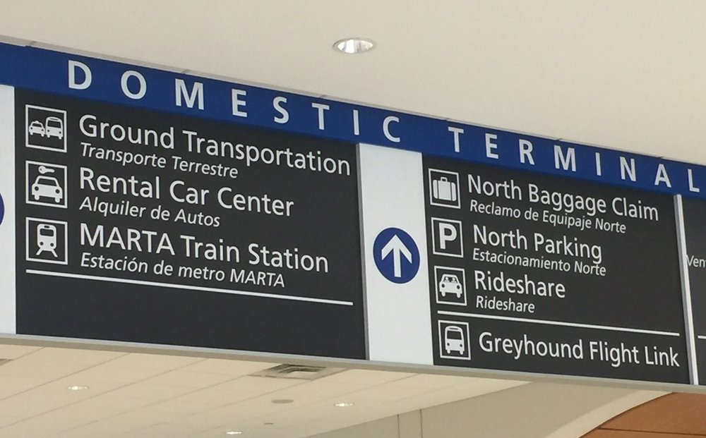 Look for signs leading to the MARTA Train Station.