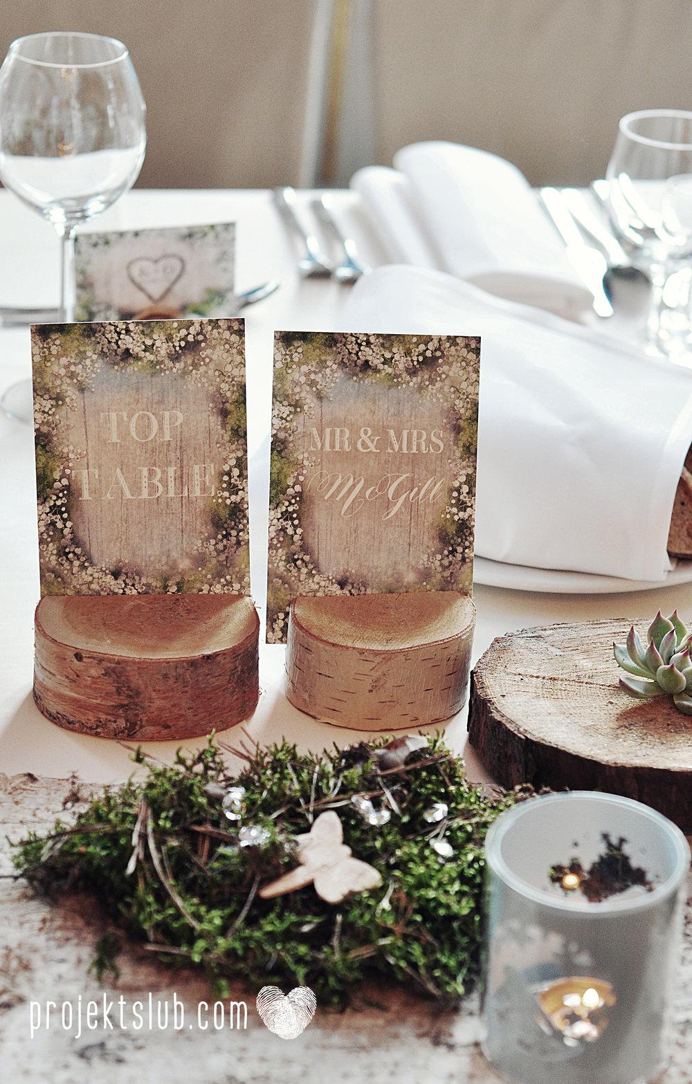 papeteria ślubna wesele w stylu rustykalnym w pałacu pod baranami projekt ślub (1).JPG