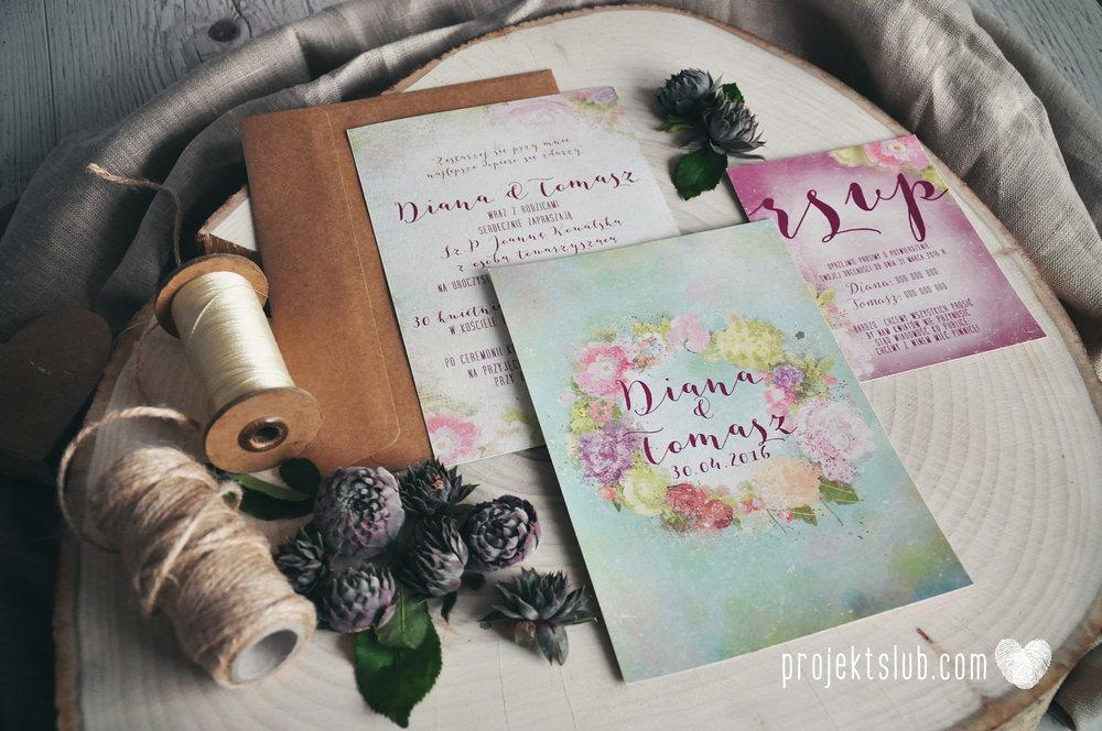 Zaproszenie ślubne BOHO WIANEK rustykalne wesele romantyczne kwiaty pastele Projekt Ślub (13).jpg