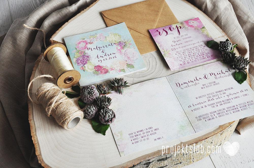 Zaproszenia ślubne oryginalne BOHO WIANEK vintage błękit pastele kwiaty romantyczne rustykalne oryginalny Projekt Ślub mięta (2).jpg