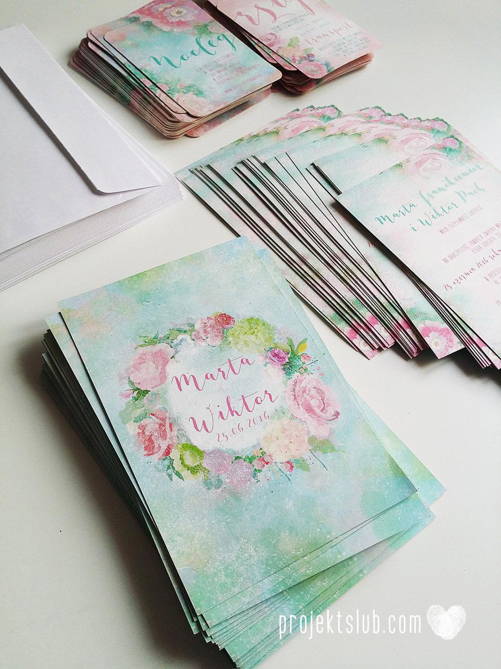 Zaproszenia ślubne oryginalne BOHO WIANEK vintage błękit pastele kwiaty romantyczne rustykalne oryginalny Projekt Ślub mięta (4).jpg