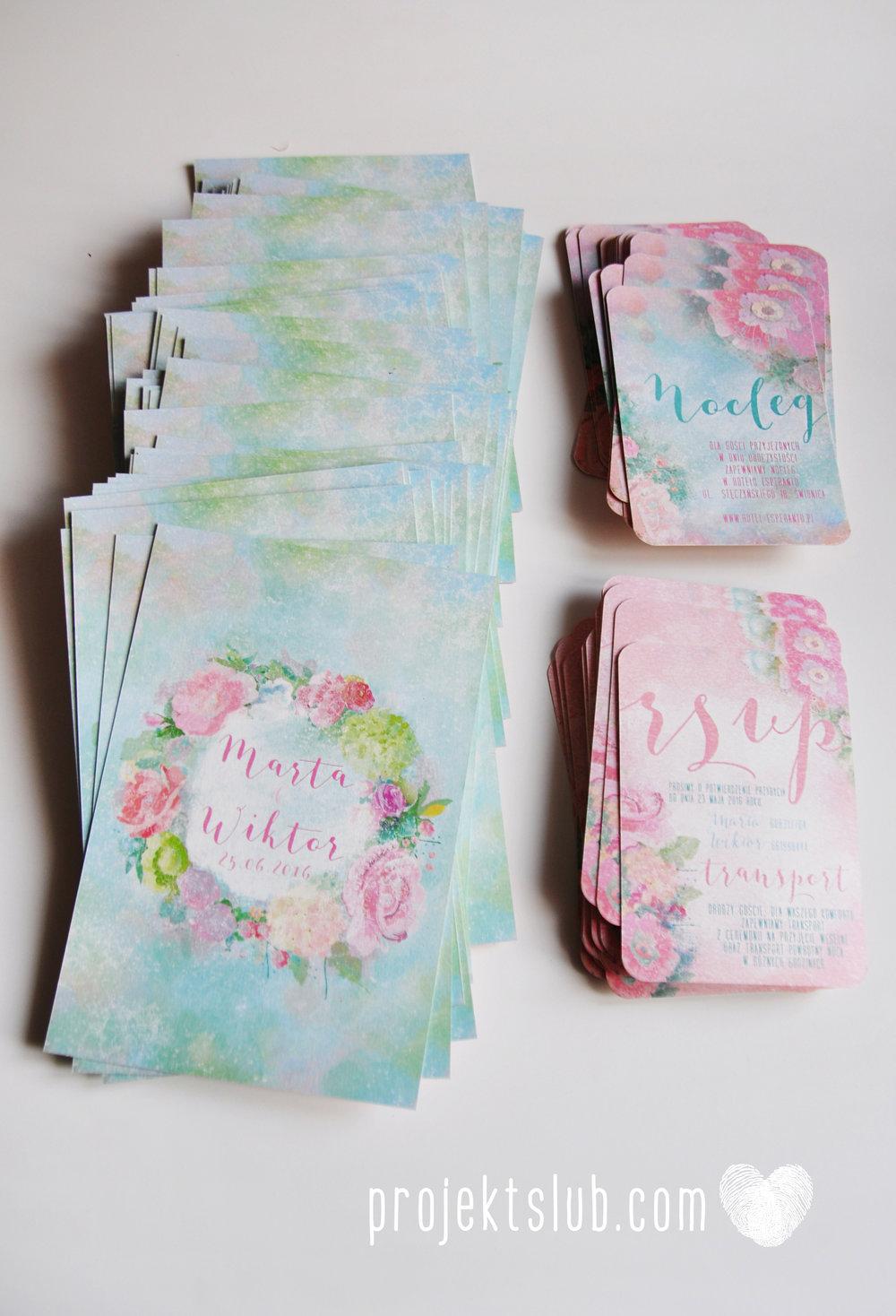 Zaproszenia ślubne oryginalne BOHO WIANEK vintage błękit pastele kwiaty romantyczne rustykalne oryginalny Projekt Ślub mięta (7).jpg