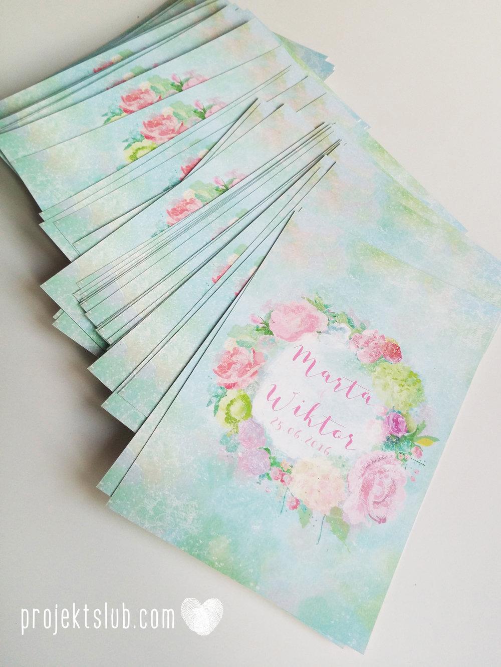Zaproszenia ślubne oryginalne BOHO WIANEK vintage błękit pastele kwiaty romantyczne rustykalne oryginalny Projekt Ślub mięta (1).jpg