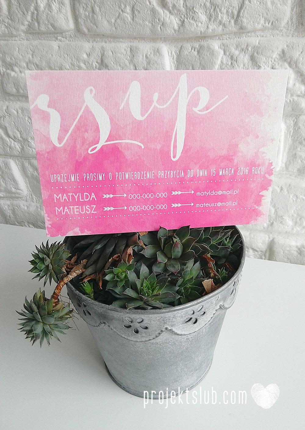 Zaproszenia Ślubne Boho Rustic Eko Oryginalne Wyjątkowe Rustykalne Sznurek Akwarelowe Róż Ombre Projekt Ślub (4).jpg