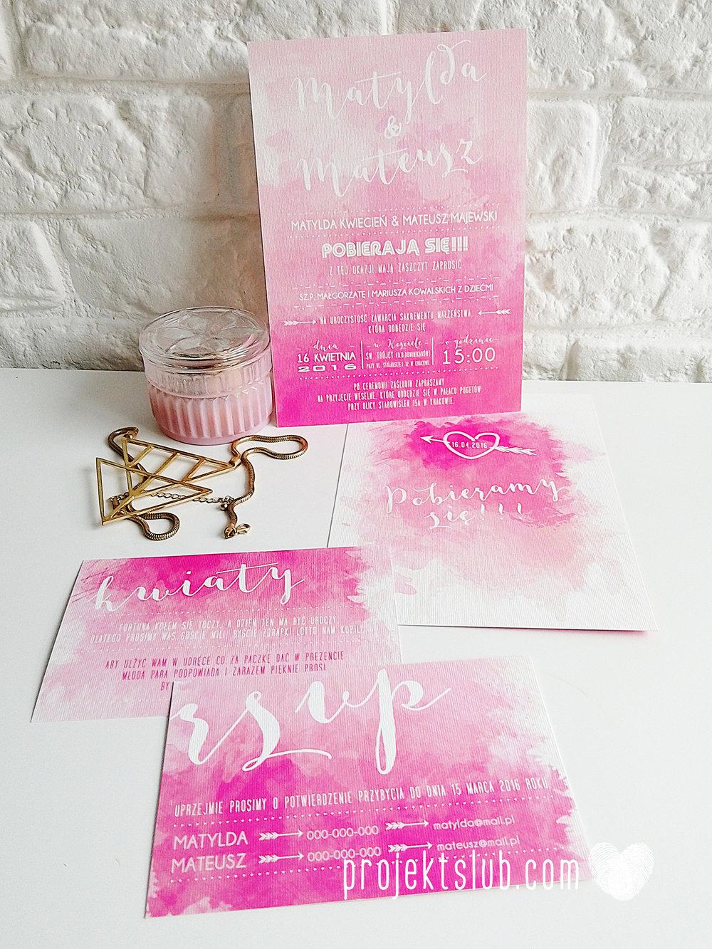 Zaproszenia Ślubne Boho Rustic Eko Oryginalne Wyjątkowe Rustykalne Sznurek Akwarelowe Róż Ombre Projekt Ślub (8).jpg