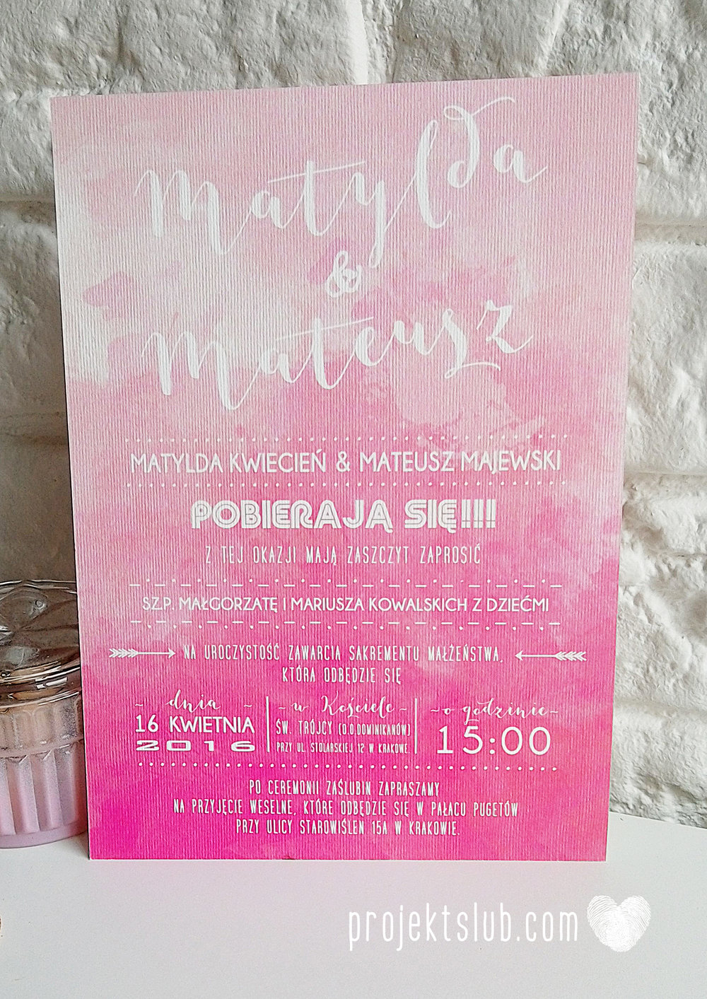 Zaproszenia Ślubne Boho Rustic Eko Oryginalne Wyjątkowe Rustykalne Sznurek Akwarelowe Róż Ombre Projekt Ślub (9).jpg
