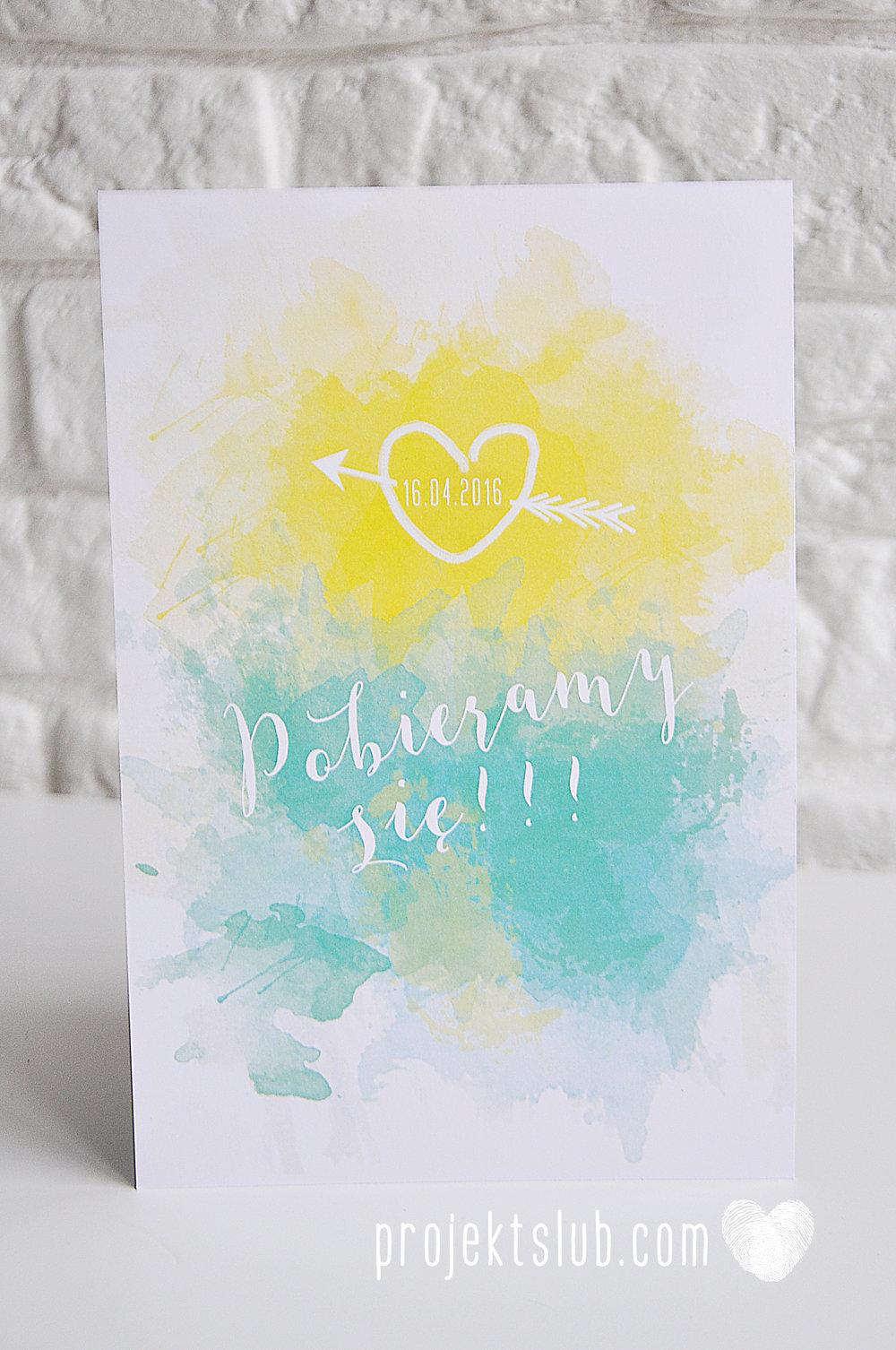 Zaproszenia Ślubne Boho Rustic Eko Oryginalne Wyjątkowe Rustykalne Sznurek Akwarelowe Cytryna Turkus Ombre Projekt Ślub (8).jpg