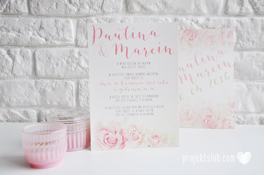 Zaproszenia Ślubne Boho Rustic Eko Oryginalne Wyjątkowe Rustykalne Akwarelowe Róże Pudrowe Kwiaty Projekt Ślub (1).jpg
